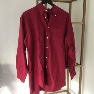 Nordstrom men's red button down size M